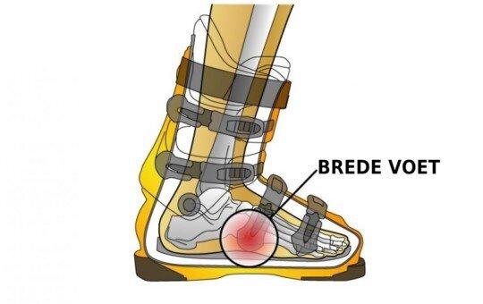 Skischoenen voor brede voeten